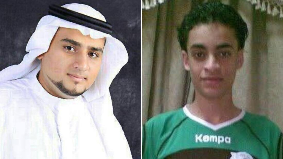 From left, Abdulkareem al-Hawaj and Mujtaba al-Sweikat