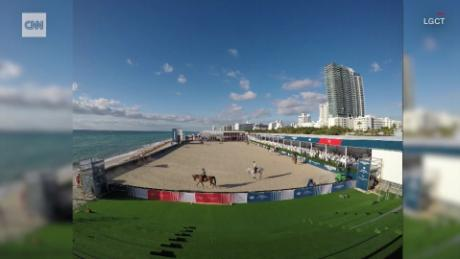 Longines Global Champions Tour 2020 LGCT: Miami stadium timelapse   CNN Video