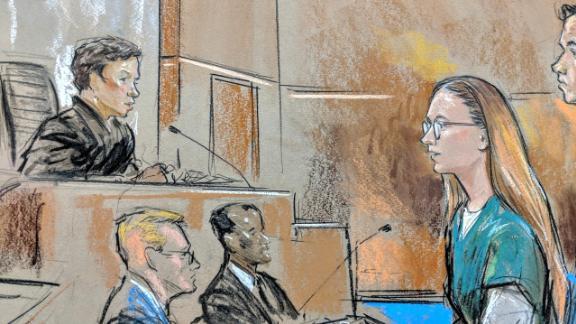 Maria Butina in US District Court April 26, 2019.