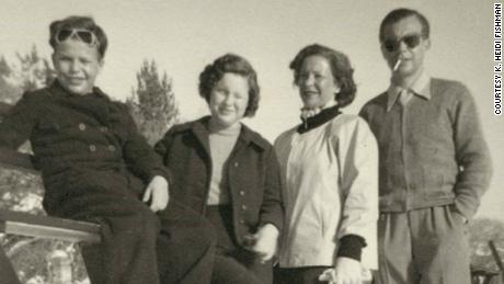 Left to right: Robert, Ruth, Margret and Heinz Lichtenstern on a family vacation after the war.