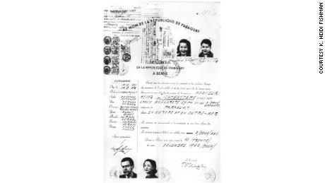 The Lichtenstern passport issued by the Paraguayan consulate in Bern.