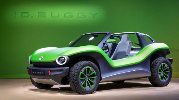 The VW ID Buggy is highly impractical but very evocative of the 1960s beach buggie.