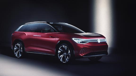 The ID Roomz, unveiled in Shanghai, is a big SUV.