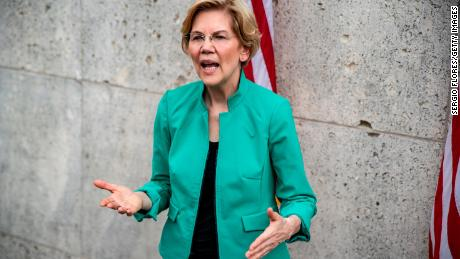 Democratic presidential candidate Sen. Elizabeth Warren (D-MA) speaks to members of the media after the She The People Presidential Forum at Texas Southern University on April 24, 2019 in Houston, Texas.