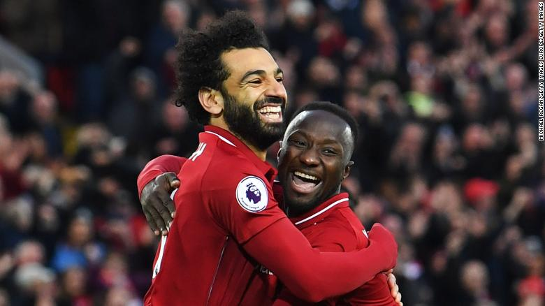 ผลการค้นหารูปภาพสำหรับ Mohamed Salah on target as Liverpool thrash Huddersfield