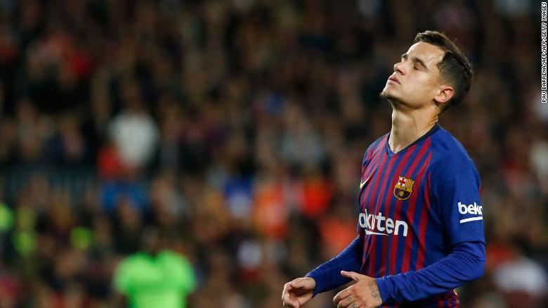 Barcelona's Brazilian midfielder Philippe Coutinho looks set to leave the club.