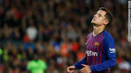 Brazilian midfielder Philippe Coutinho has struggled to make an impact at Barcelona.