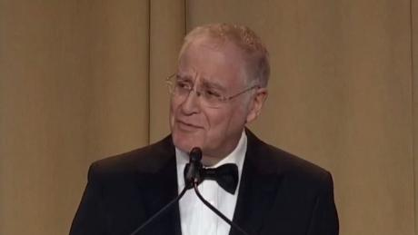 Author Ron Chernow gives the keynote address at the 2019 White House Correspondent's Dinner.