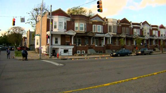 A gunman opened fire in the middle of cookouts on both sides of the 2500 block of Edmondson Avenue Sunday.