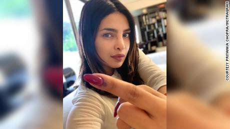 Priyanka Chopra Jonas was among the celebrities encouraging their followers to vote.