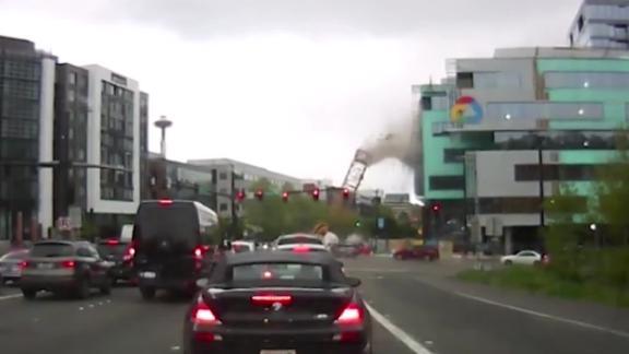 crane collapse video still