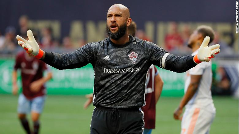 Tim Howard now captains the Colorado Rapids in Major League Soccer.