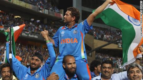 When Sachin Tendulkar finally won the World Cup in 2011 on home soil, he was hoisted on the shoulders of his teammates, as they paraded a national icon to the crowd.