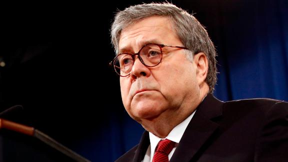 Attorney General William Barr speaks about the release of a redacted version of special counsel Robert Mueller
