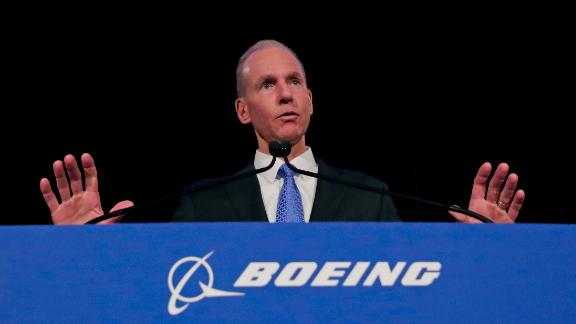 CHICAGO, ILLINOIS - APRIL 29: Boeing Chief Executive Dennis Muilenburg speaks during a press conference after the annual shareholders meeting at the Field Museum on April 29, 2019 in Chicago, Illinois. Boeing announced earnings fell 21 percent in the first quarter after multiple crashes of the company's bestselling plane the 737 Max. (Photo by Jim Young-Pool/Getty Images)