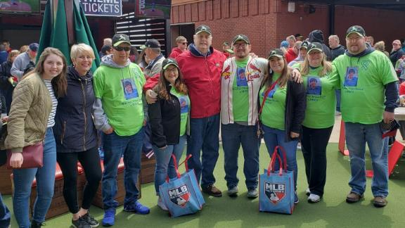 From left to right, Catherine and Liza Sueme, Jake and Savannah Roesch, John Sueme, Brenden and Angie Bulger, and Katie and Chris Seper.