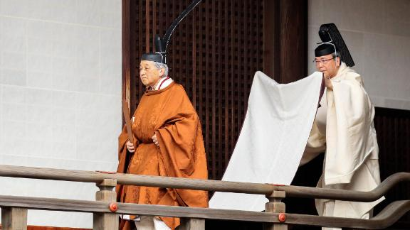 "Just before abdicating, Emperor Akihito said on TV he had performed his duties with a ""deep sense of trust and respect"" for the Japanese people. ""I consider myself most fortunate to have been able to do so,"" he said."
