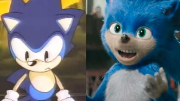 The original animated Sonic appears mostly toothless.