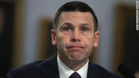 "WASHINGTON, DC - APRIL 30:  Acting U.S. Homeland Security Secretary Kevin McAleenan testifies during a hearing before the Homeland Security Subcommittee of House Appropriations Committee April 30, 2019 on Capitol Hill in Washington, DC. The subcommittee held a hearing on ""FY2020 Budget Hearing - Department of Homeland Security."" (Photo by Alex Wong/Getty Images)"