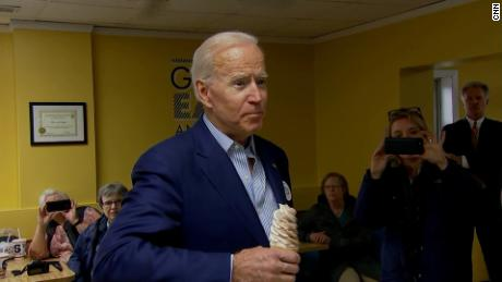 Biden takes aim at Trump as he enters Iowa the Democratic front-runner