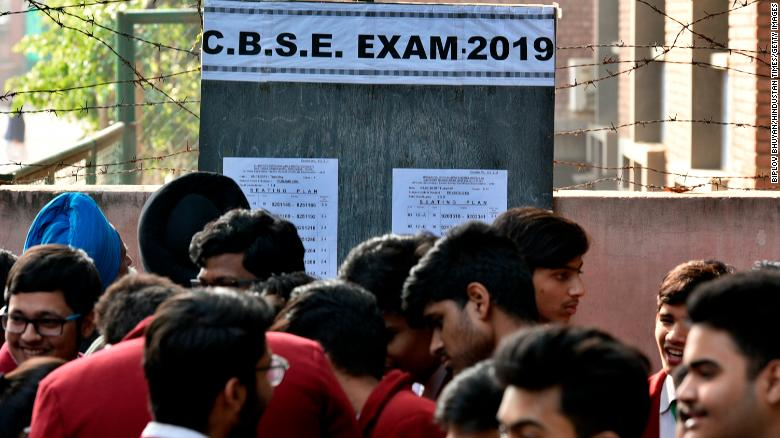 Most university admissions in India are based on exams taken in 12th grade.