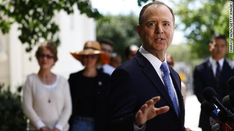 Chairman of the House Intelligence Committee Adam Schiff speaks at a press conference discussing today's release of the redacted Mueller report on April 18, 2019 in Burbank, California. (Mario Tama/Getty Images)