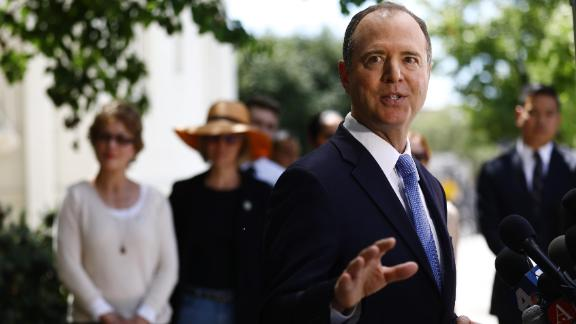 House Intelligence Committee Chairman Adam Schiff speaks at a news conference in April in Burbank, California. (Mario Tama/Getty Images)