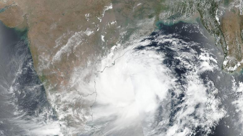 Cyclone Fani is due to make landfall in Odisha state on Friday.