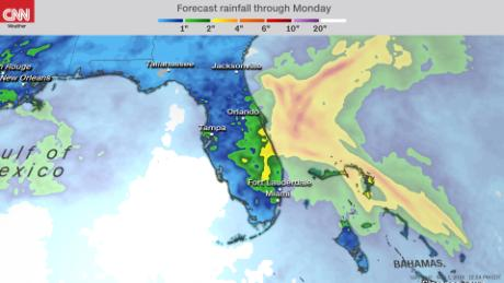 The disturbance will bring humid conditions to Florida on Thursday that will last into the weekend.