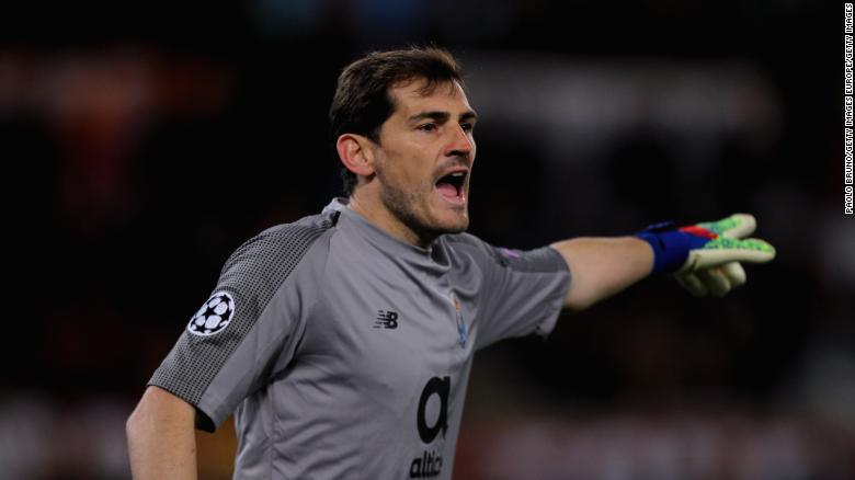 Iker Casillas was taken to hospital after suffering a heart attack.