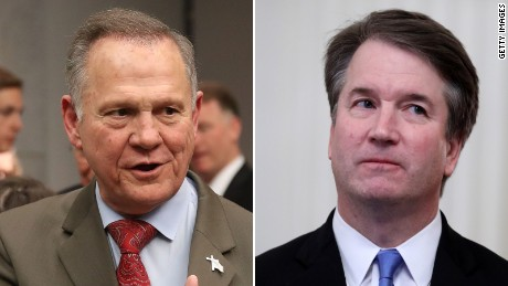 Roy Moore and  Brett Kavanaugh