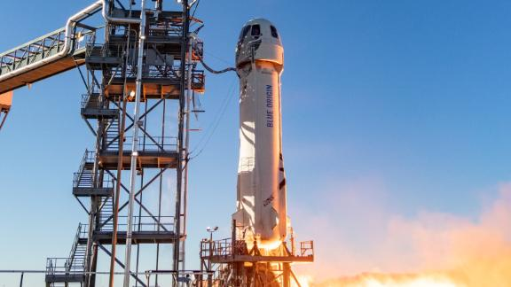 New Shepard takes off on Mission NS-10 - January 23, 2019