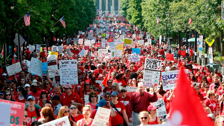 What's fueling teacher protests and strikes across the US?
