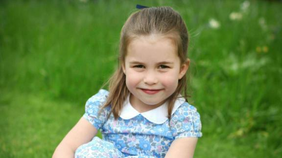 Kensington Palace released this undated photo of Charlotte to mark her fourth birthday in May 2019. The photo was taken by Charlotte