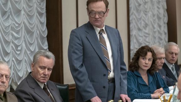 "Stellan Skarsgard, Jared Harris and Emily Watson, from left, in ""Chernobyl."""