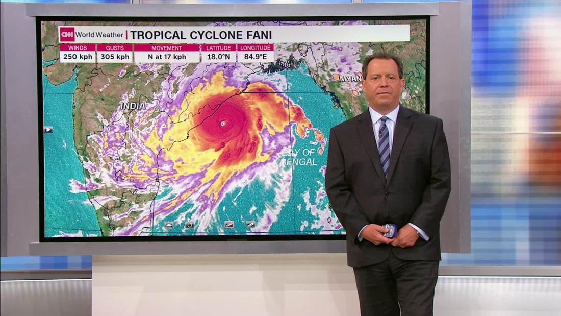 Fani is a large and dangerous cyclone on a path to hit India