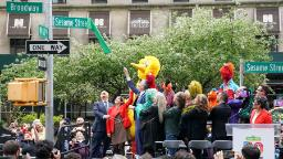 Sesame Street becomes a real intersection in NYC