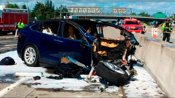 This March 23, 2018 crash of a Tesla Model X in Autopilot mode killed the car's owner, Walter Huang. His family is suing Tesla charging the Autopilot feature caused the crash.