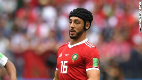 Former Watford midfielder played for Morocco at the 2018 World Cup while wearing a scrum cap -- just five days after being substituted due to concussion against Iran.