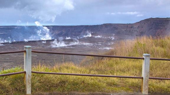 A visitor to Hawaii Volcanoes National Park climbed past the metal railing, lost his footing and fell into the Kilauea volcano caldera, according to Ben Hayes, spokesperson with the National Park Service.