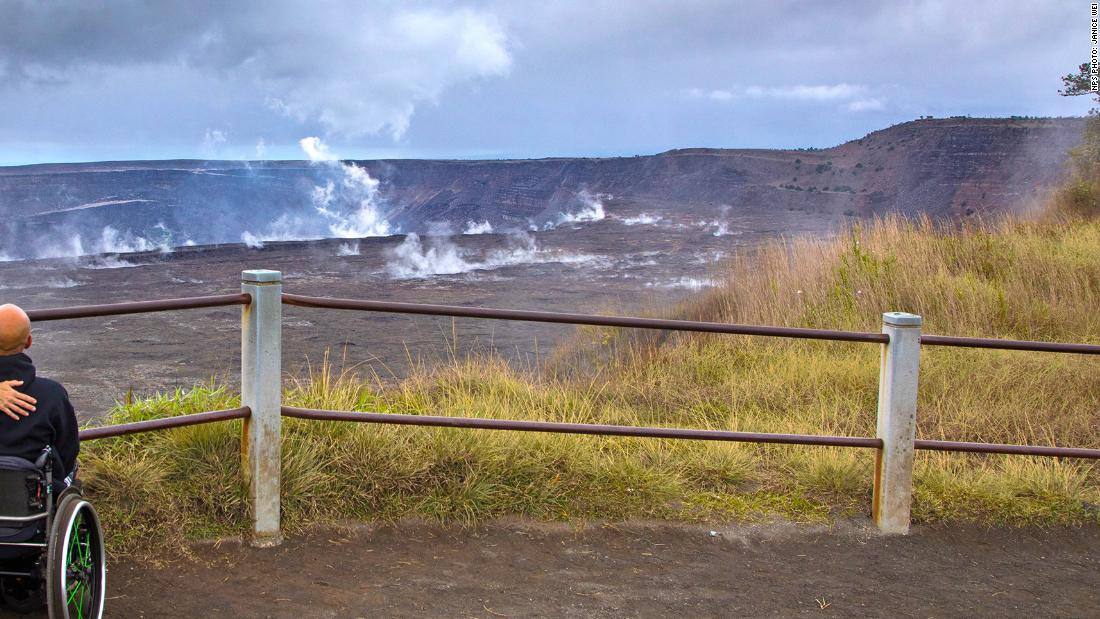Visitor crosses barrier and falls 70 feet into the Kilauea volcano's crater