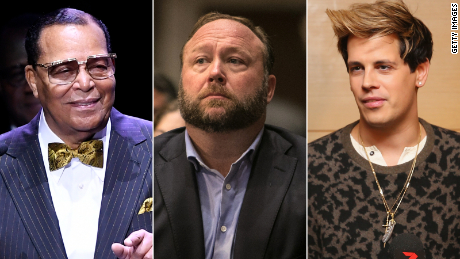 Louis Farrakhan, Alex Jones and others