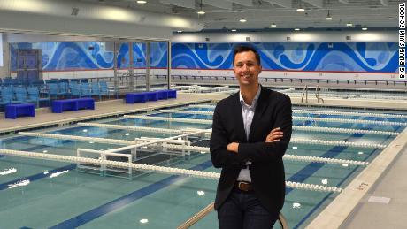 Chris DeJong, co-founder of the Big Blue Swim School.