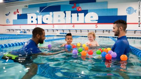 Chris DeJong opened the first  Big Blue Swim School in 2012 in Wilmette, Illinois. Today, the business has five locations in the Chicago area.