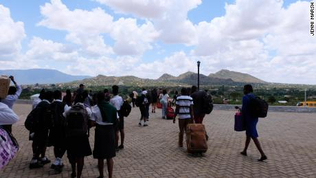 Passengers arriving in Voi.