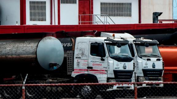 Tanker trucks are seen in Maracaibo, Venezuela on March 15, 2019.