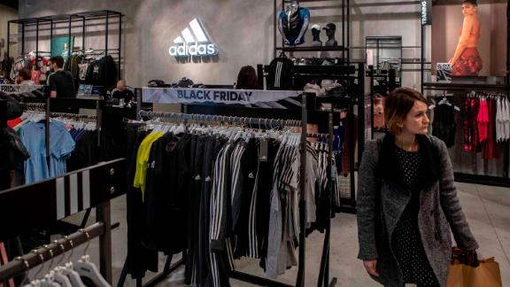 Adidas shares spiked on Friday.