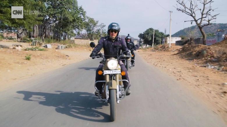 Roaring through Rajasthan on a vintage motorcycle