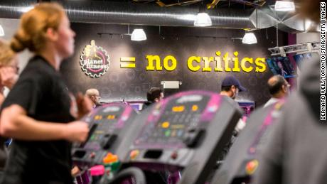 "TORONTO, ON -  JANUARY 7: Planet Fitness, a low cost gym chain, opened its first Canadian branch in Toronto. The franchise is growing quickly thanks to low prices and its ""judgement free-zone"" mantra.        (Bernard Weil/Toronto Star via Getty Images)"