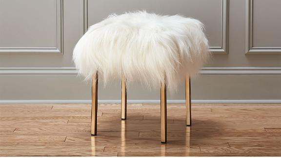 Sheepskin Stool ($349; cb2.com)